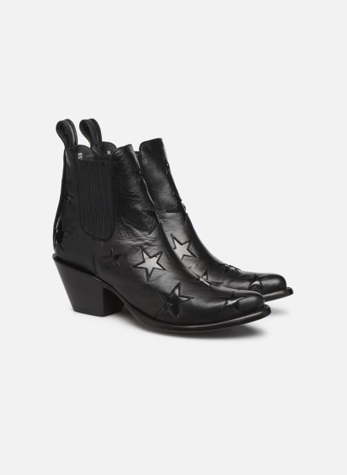 Ankle boots Mexicana Circus Etoiles Vernies Black 3/4 view