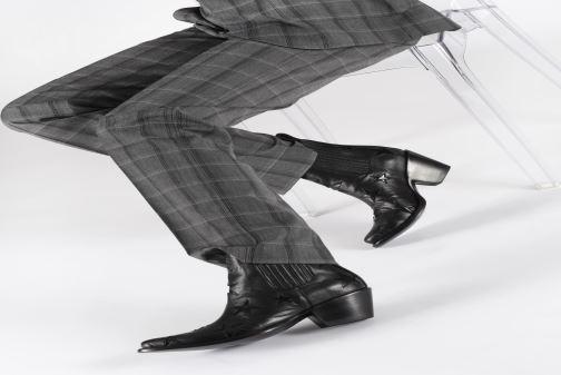 Botines  Mexicana Circus Etoiles Vernies Negro vista de abajo