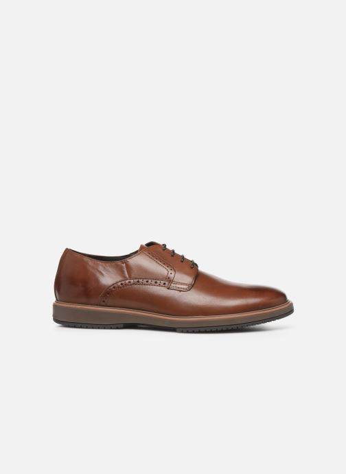 Lace-up shoes Geox U TYREN Brown back view
