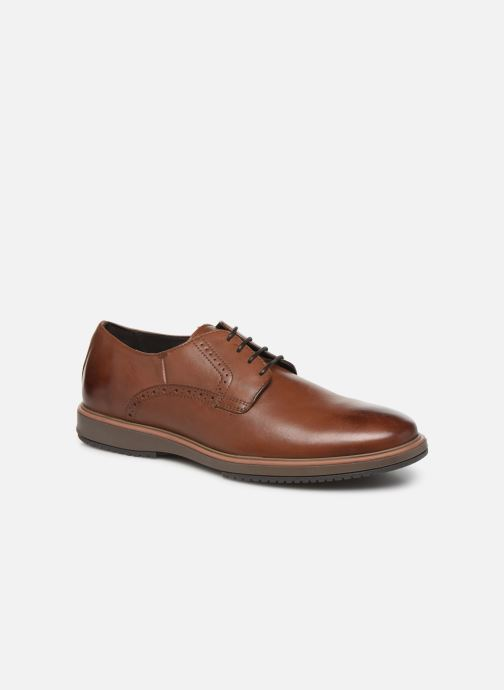 Lace-up shoes Geox U TYREN Brown detailed view/ Pair view