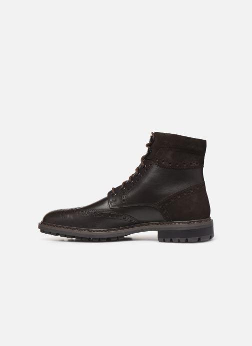 Boots en enkellaarsjes Geox U BRENSON Bruin voorkant