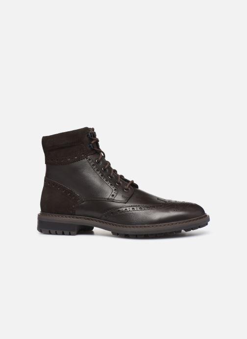 Boots en enkellaarsjes Geox U BRENSON Bruin achterkant