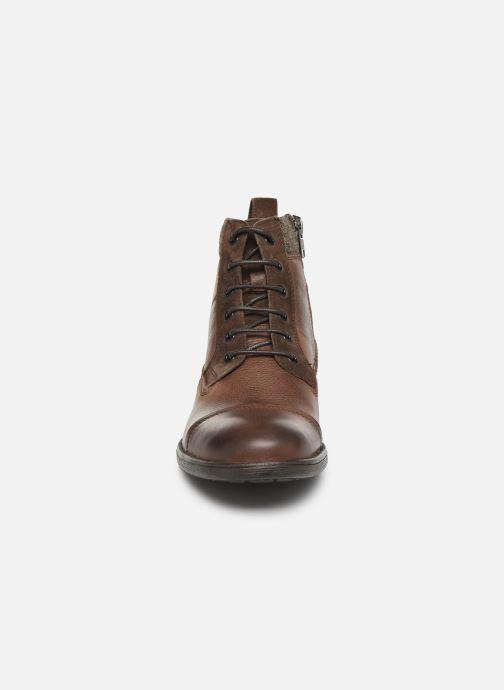 Bottines et boots Geox U JAYLON high Marron vue portées chaussures
