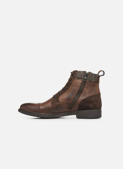 Boots en enkellaarsjes Geox U JAYLON high Bruin voorkant