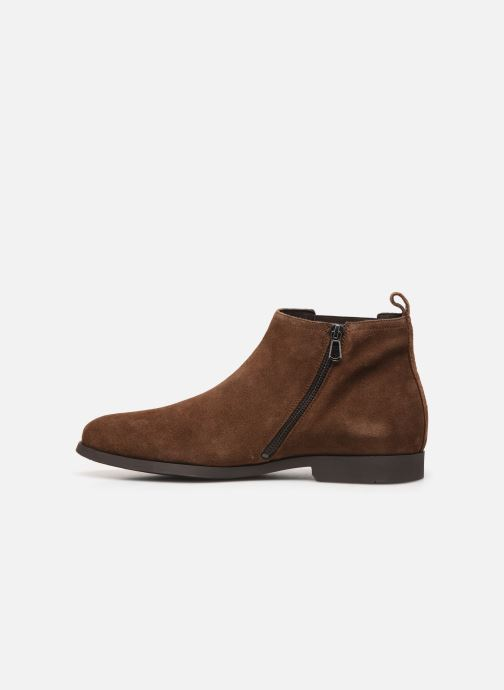 Ankle boots Geox U Kaspar Brown front view