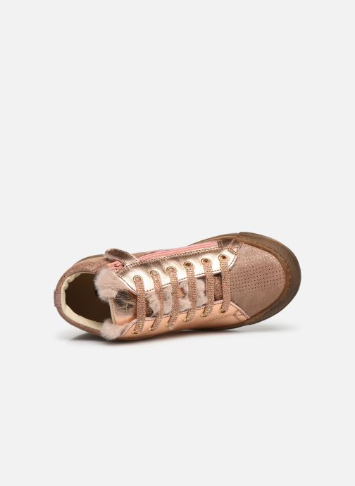 Trainers Naturino Schans Zip Pink view from the left