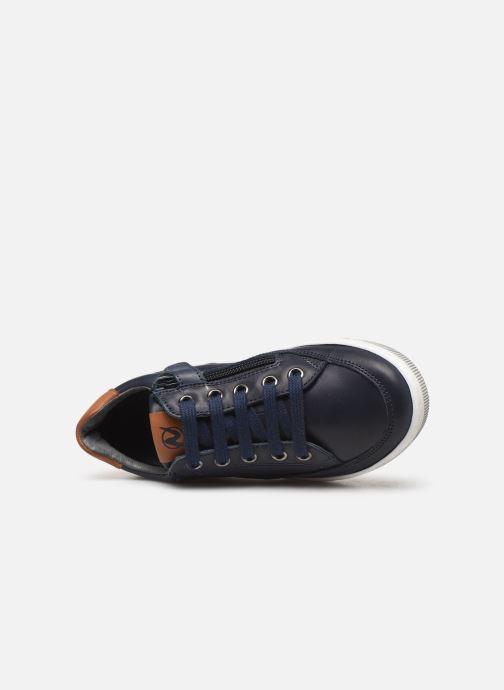 Baskets Naturino Crus zip Bleu vue gauche