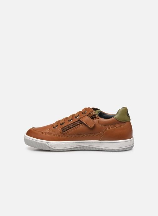 Sneakers Naturino Crus zip Bruin voorkant