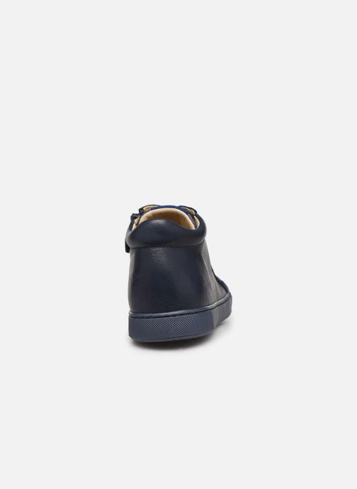 Baskets Naturino Dord zip Bleu vue droite