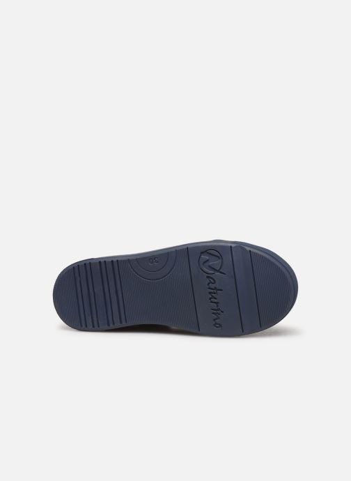 Baskets Naturino Dord zip Bleu vue haut