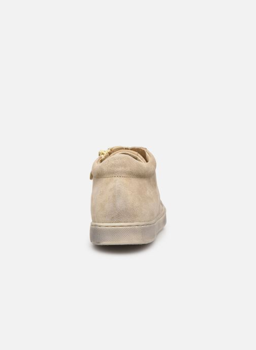 Baskets Naturino Dord zip Or et bronze vue droite