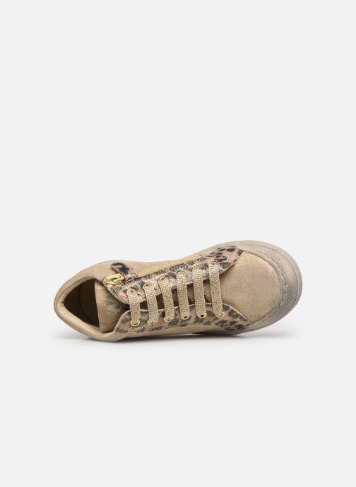 Baskets Naturino Dord zip Or et bronze vue gauche