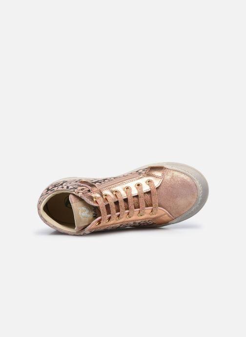 Sneaker Naturino Dord zip rosa ansicht von links