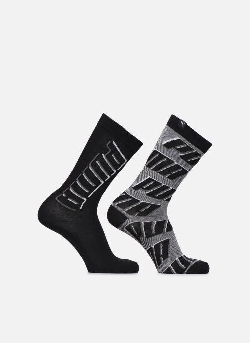 Strømper og tights Puma Socks CLASSIC ALLOVER LOGO Lot de 2 Sort detaljeret billede af skoene