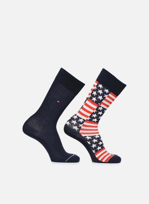 Sokken en panty's Tommy Hilfiger Chaussettes AMERICAN FLAG Lot de 2 Blauw detail