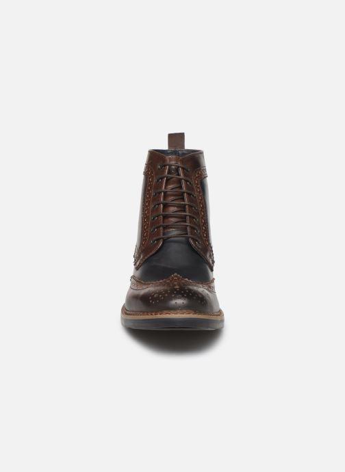 Bottines et boots Base London BANNER Marron vue portées chaussures