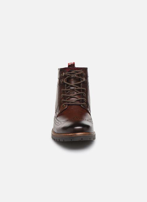 Bottines et boots Base London BOWER Marron vue portées chaussures