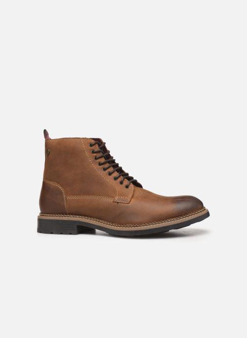 Boots en enkellaarsjes Base London WRENCH Bruin achterkant