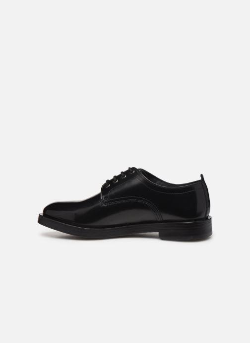 Zapatos con cordones Base London KEATS Negro vista de frente
