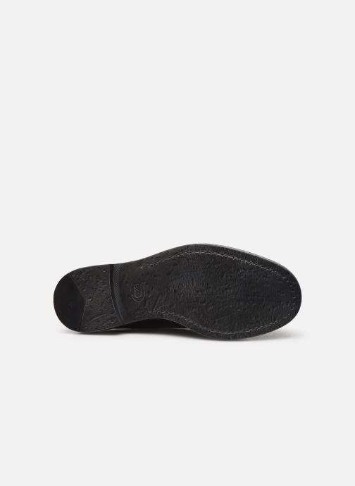 Zapatos con cordones Base London KEATS Negro vista de arriba