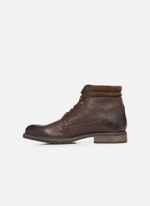 Boots en enkellaarsjes Base London TREK Bruin voorkant
