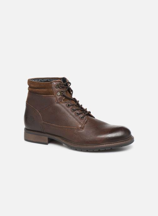 Boots en enkellaarsjes Base London TREK Bruin detail