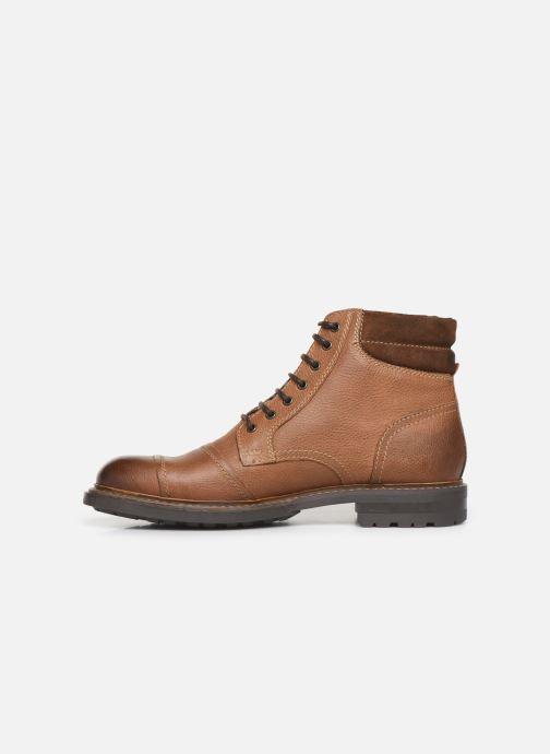 Bottines et boots Base London RETON Marron vue face