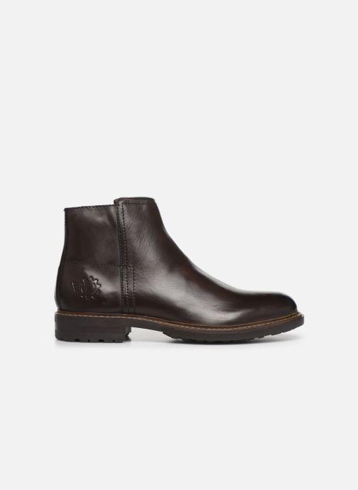 Boots en enkellaarsjes Base London CUSACK Bruin achterkant