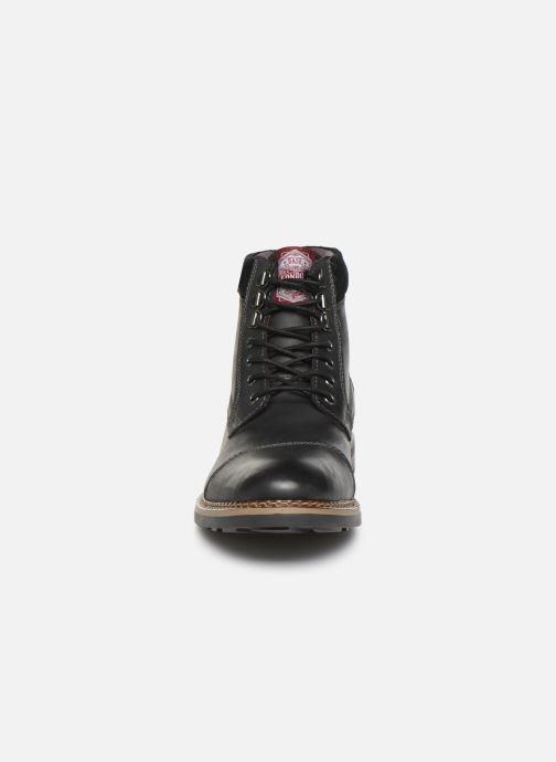 Boots en enkellaarsjes Base London WINSTON Zwart model