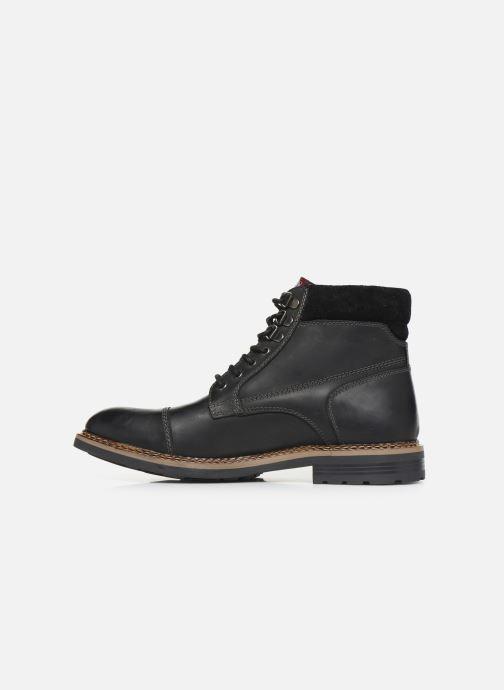 Boots en enkellaarsjes Base London WINSTON Zwart voorkant