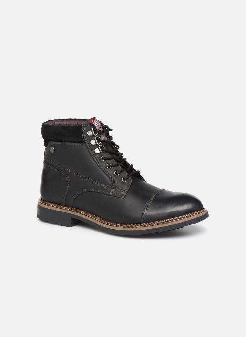 Ankelstøvler Base London WINSTON Sort detaljeret billede af skoene