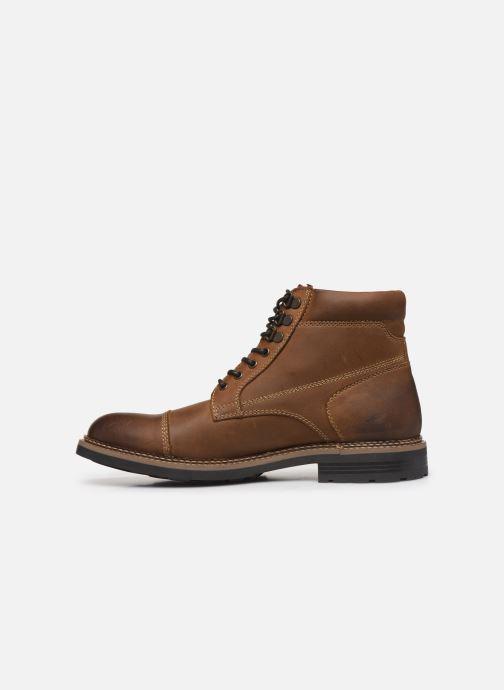 Bottines et boots Base London WINSTON Marron vue face