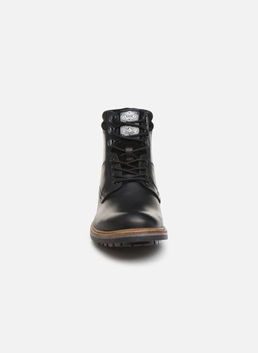 Bottines et boots Base London HIDE Noir vue portées chaussures