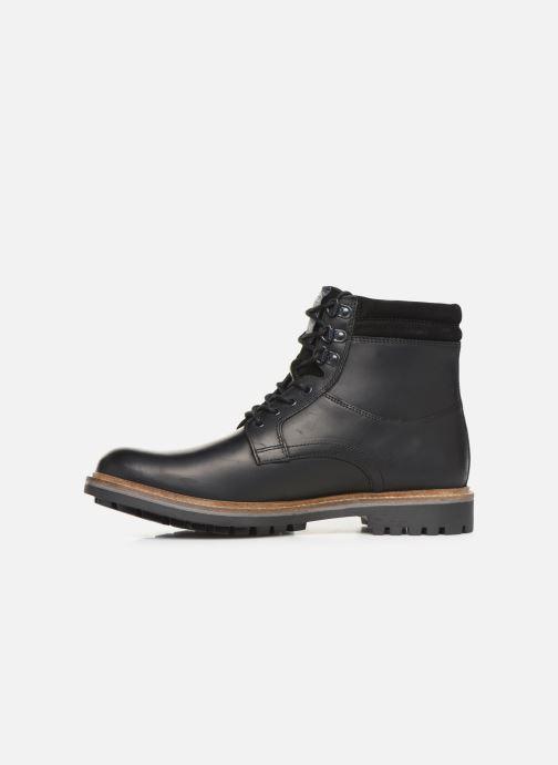Bottines et boots Base London HIDE Noir vue face