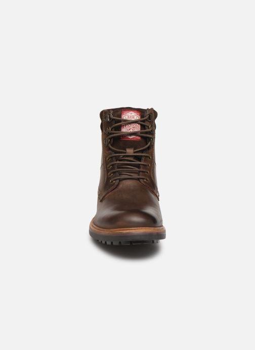 Bottines et boots Base London HIDE Marron vue portées chaussures