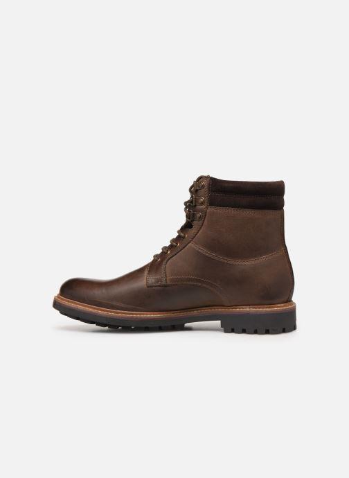 Bottines et boots Base London HIDE Marron vue face