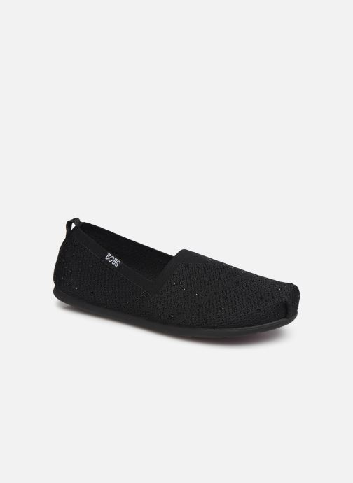 Hjemmesko Skechers Plush Lite/Instant Shine Sort detaljeret billede af skoene