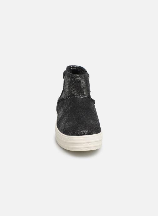 Bottines et boots Skechers Double Up/Warm Shine Gris vue portées chaussures