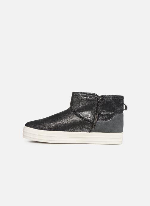 Boots en enkellaarsjes Skechers Double Up/Warm Shine Grijs voorkant