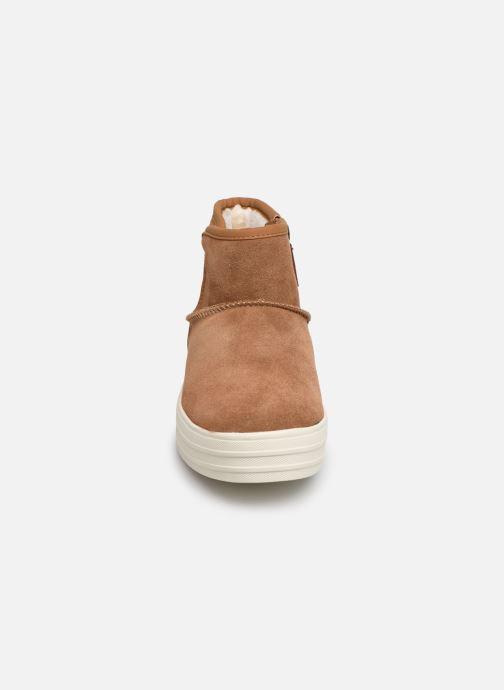 Bottines et boots Skechers Double Up/Shorty Marron vue portées chaussures