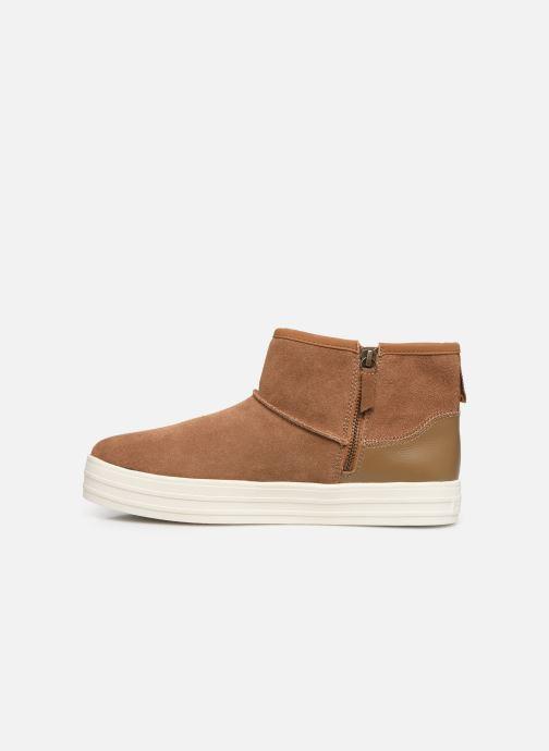 Boots en enkellaarsjes Skechers Double Up/Shorty Bruin voorkant