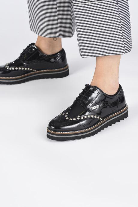 Chaussures à lacets Les Tropéziennes par M Belarbi Ida Noir vue bas / vue portée sac
