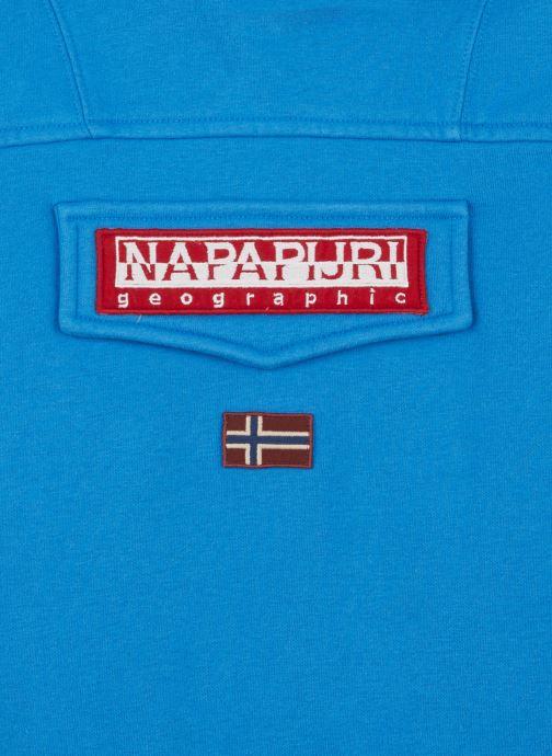 Vêtements Napapijri K BURGEE 2 Bleu vue portées chaussures