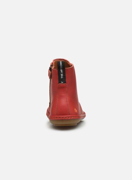 Botines  Art Kio 4A-710 Rojo vista lateral derecha