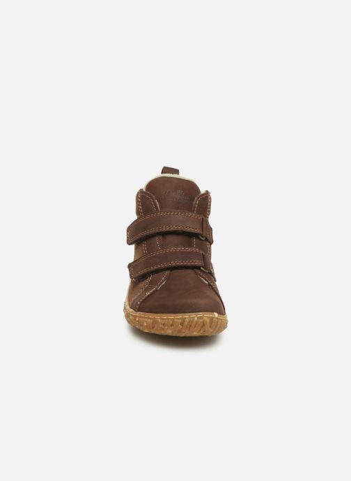 Baskets El Naturalista Nido 5E-768 Marron vue portées chaussures