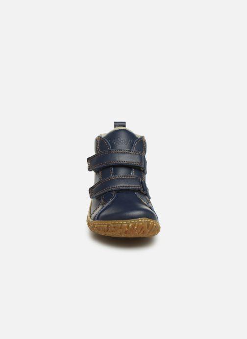 Baskets El Naturalista Nido 5E-768T Bleu vue portées chaussures