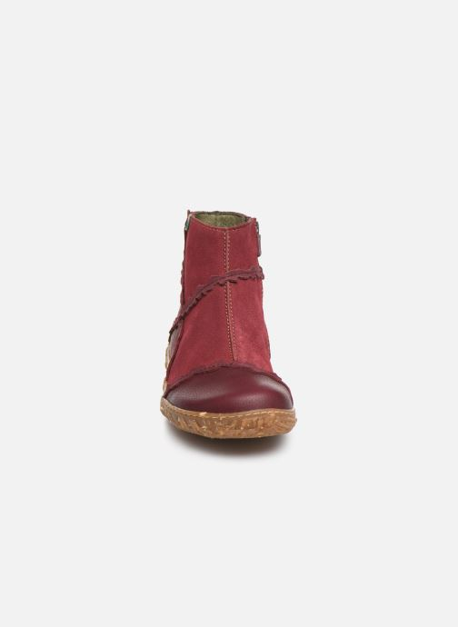Ankle boots El Naturalista Nido 5E-769 Burgundy model view