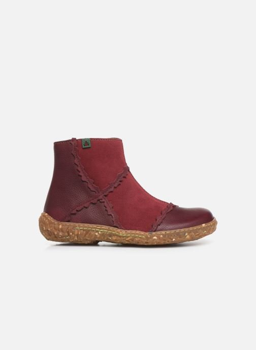 Ankle boots El Naturalista Nido 5E-769 Burgundy back view