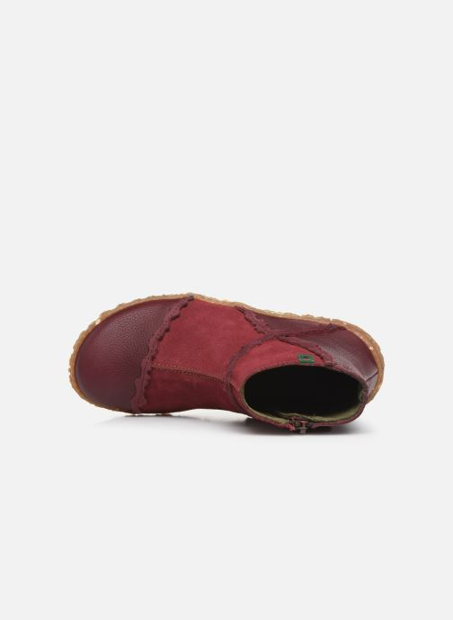 Ankle boots El Naturalista Nido 5E-769 Burgundy view from the left