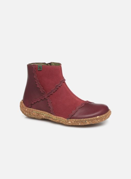 Ankle boots El Naturalista Nido 5E-769 Burgundy detailed view/ Pair view